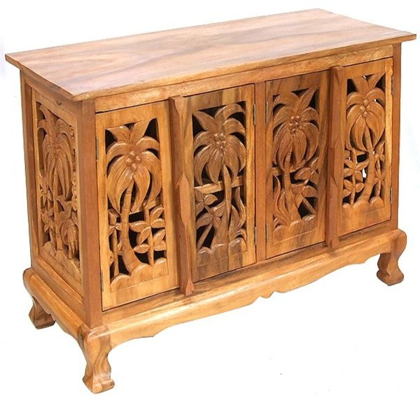 Handmade Coconut Palm Storage Cabinet and Sideboard Buffet ...