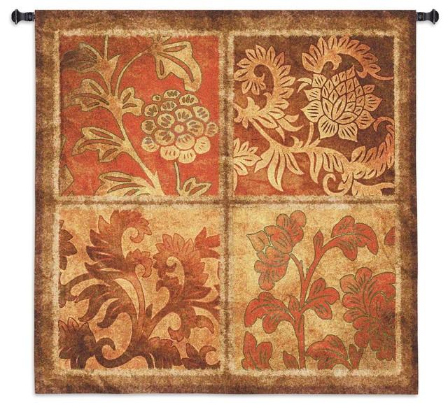 Botanical Scroll Medium Wall Tapestry - Traditional ...
