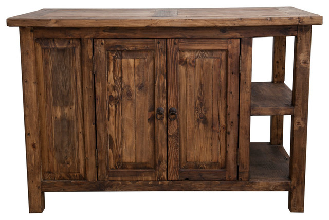 Carson Reclaimed Kitchen Island Rustic Kitchen Islands And Kitchen Carts By Foxden Decor
