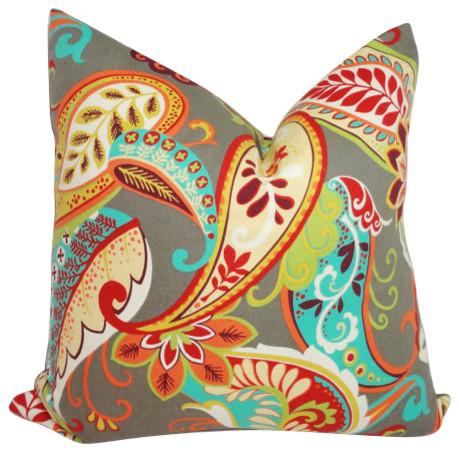 Covington Whimsy MultiColor Paisley Print Decorative Pillow Beauteous Multi Color Decorative Pillows
