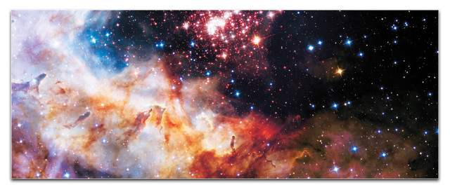 Celestial Fireworks, Reverse-Print Acrylic Outer Space Nasa Art.