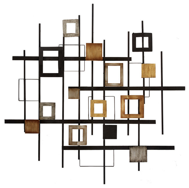 Merveilleux Metal Abstract Wall Decor Contemporary Metal Wall Art