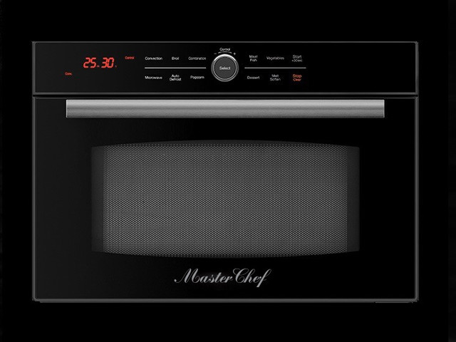Master Chef 24 Built In High Sd Convection Microwave Oven Black Trim Kit