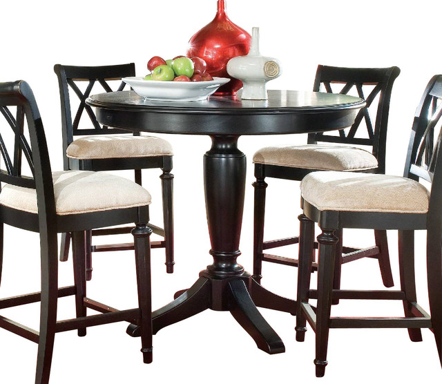 Superieur American Drew Camden Dark Round Counter Height Table In Black
