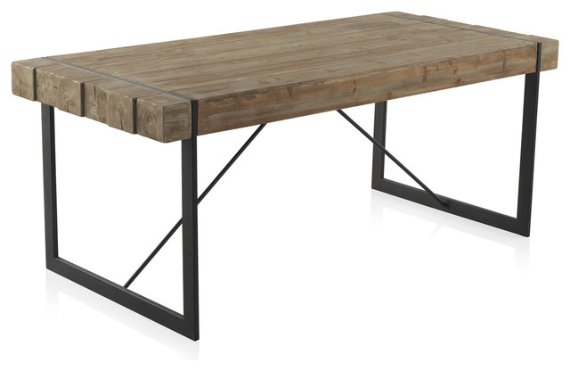 Vigo Wooden and Iron Dining Table