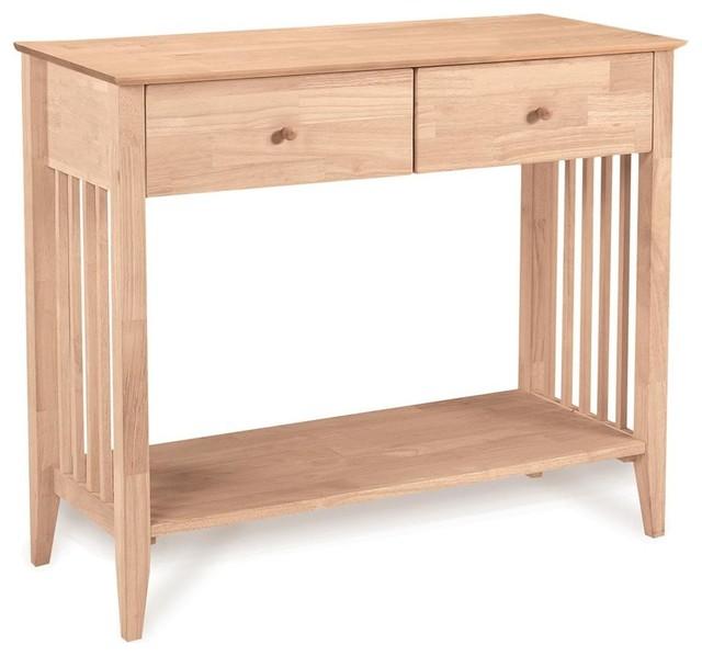 scribed oak effect home storage unfinished mission server drawers shelf craftsman buffets