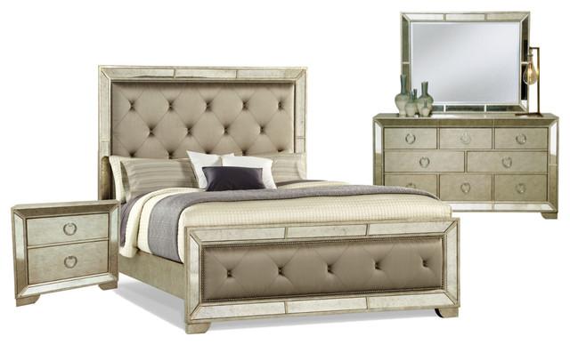 Pulaski Furniture Farrah Panel Bedroom Set Transitional