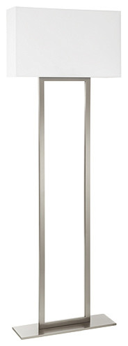 Gina Satin Nickel Floor Lamp