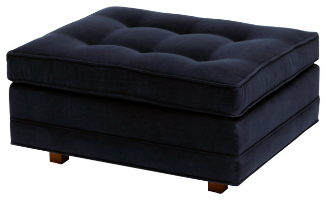 Up Ottoman, Charcoal Fabric by ARTLESS