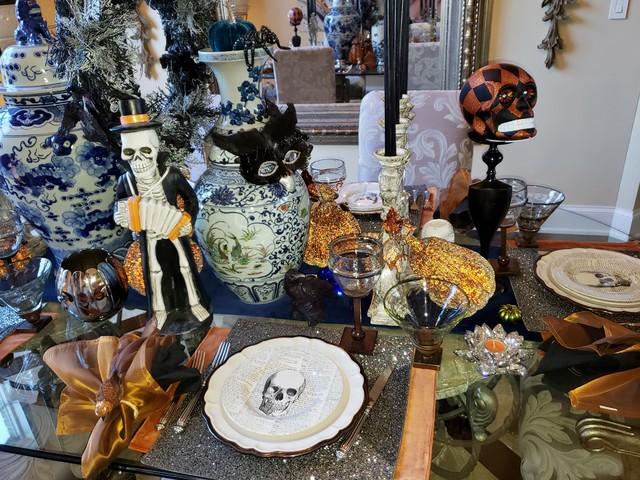 Halloweeen Decorating transitional-dining-room