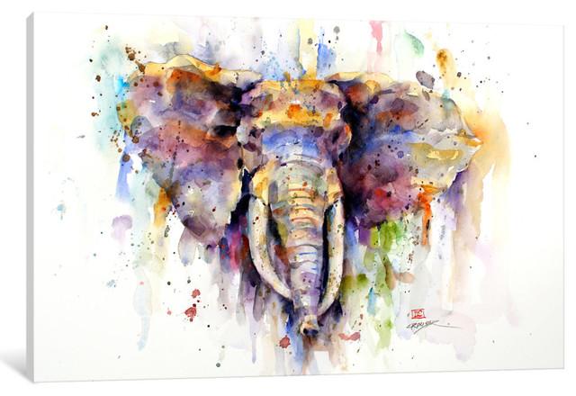 """Elephant"" by Dean Crouser, 26x18x0.75"""