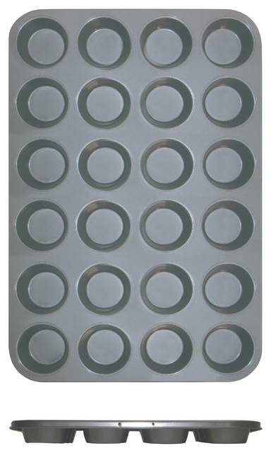 24 Cup Muffin Pan - Non Stick 0.4m/m, 3.5 Oz. Each Cup.