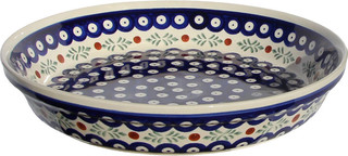 Polish Pottery Dish Pie Plate, Pattern Number: 242
