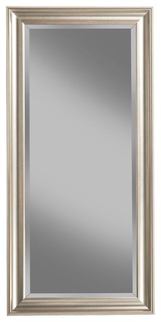 Sandberg furniture full length leaner mirror traditional for Silver floor length mirror