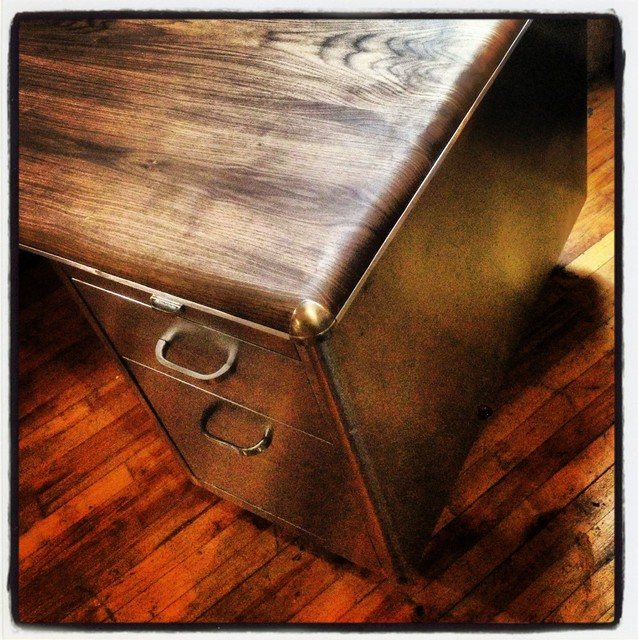 Tanker Upcycled Amp Refinished Tanker Desk View In