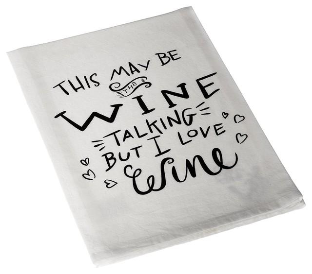 Love Wine Tea Towel 28 Inch