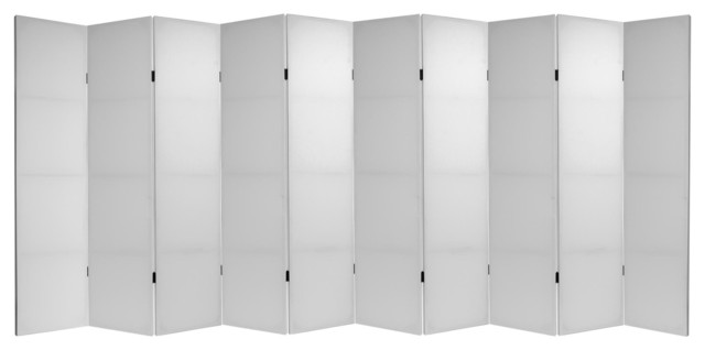 Tall Do It Yourself Canvas Room Divider 10 Panels Transitional Screens