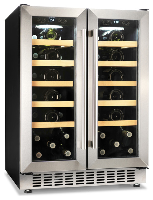 Morvan Built-In Dual Zone 40-Bottle Compressor Wine Cooler