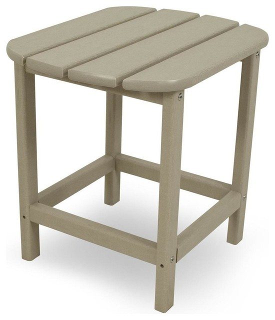 Eco Friendly Side Table In Sand Contemporary Outdoor