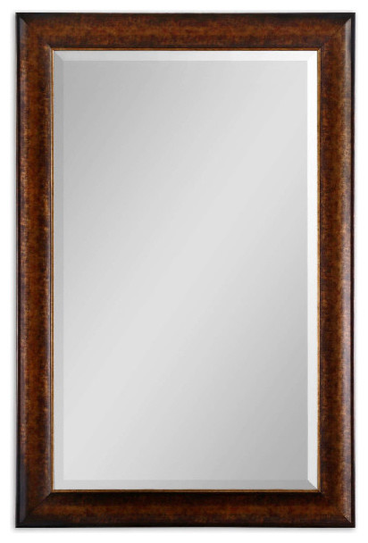 Healy Rustic Bronze With Silver Rectangular Mirror.