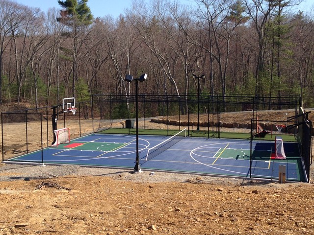 Backyard Multi Sport Basketball Court In Boxford