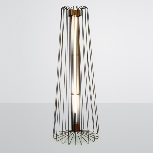 Wire Floor Light - Contemporary - Floor Lamps