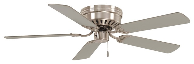 "Minka Aire Mesa 52"" Ceiling Fan, Brushed Nickel."