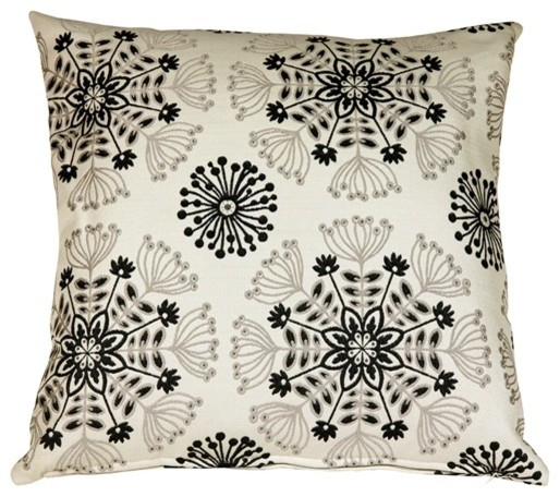 Pillow Decor - Waverly Kaleidoscope Tuxedo 20 X 20 Throw Pillow.