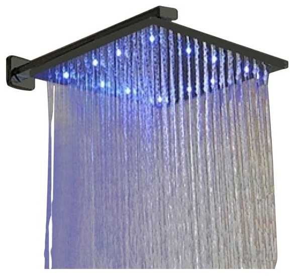 juno showers square led showerhead oil rubbed bronze showerheads and - Showerheads