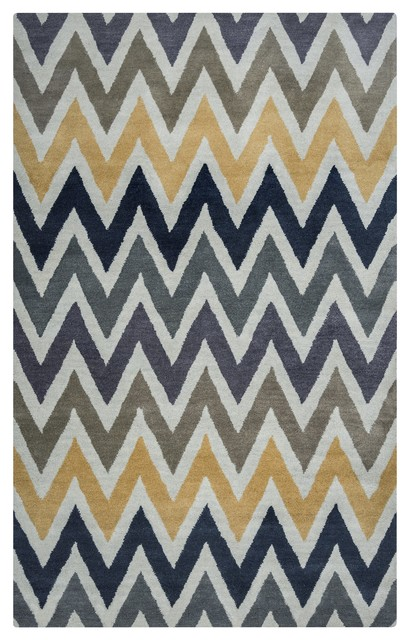 Contemporary Gold Wool Rug, 8&x27;x10&x27;, Volare Vo8170.