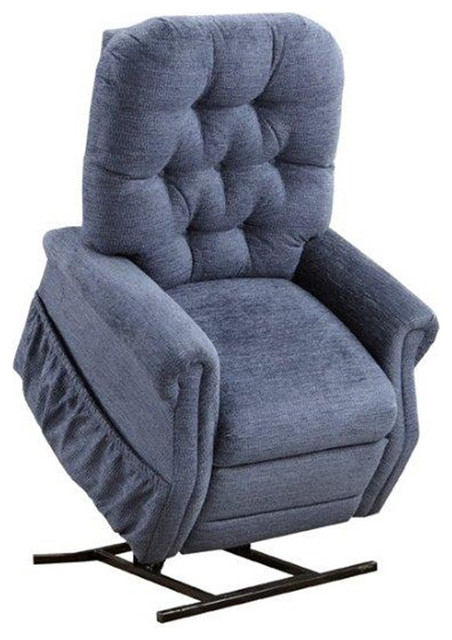 Med Lift Two-Way Reclining Lift Chair, Encounter, Blue by Medlift