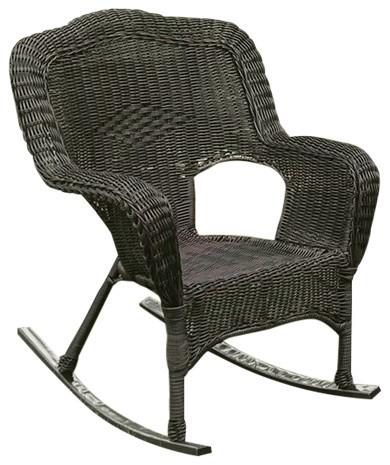 best service cfc53 d77d4 Maui Camelback Outdoor Rocking Chair (Set of 1) - Antique Pecan