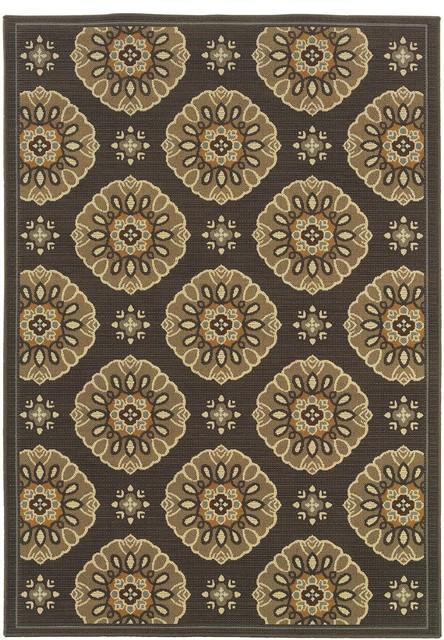Indoor Outdoor Bali Area Rug Rectangle Gray Gold 1 9