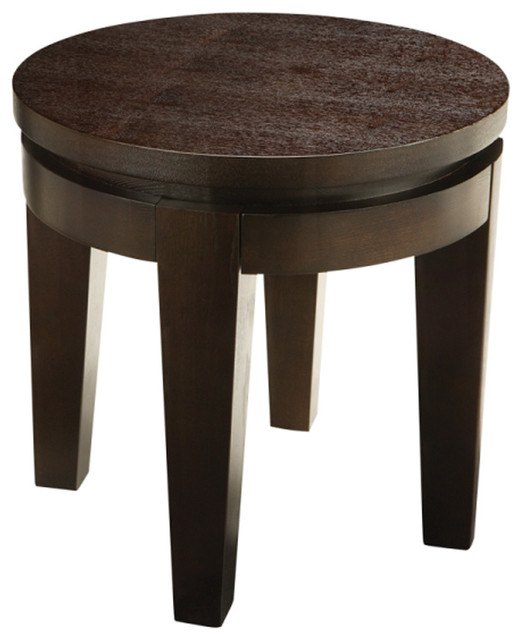 Asia Round End Table Espresso