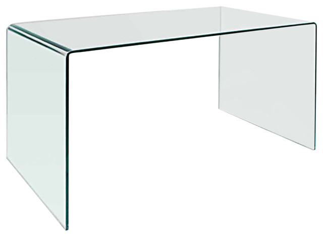 Aero Bent Glass Office Desk.