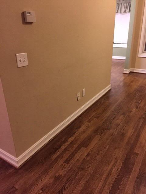 Paint to match hardwood floors for Color of hardwood floors