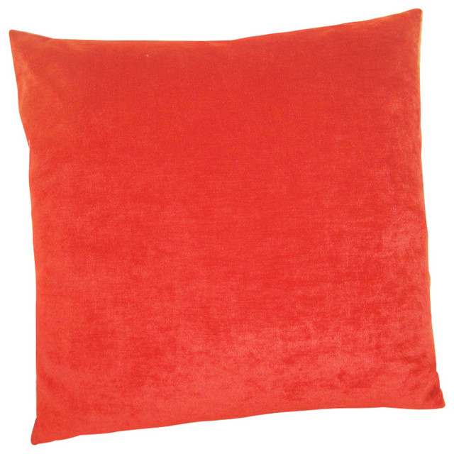 Chenille Pillow, Red, 20