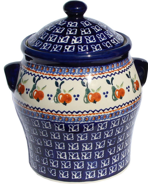 Polish Pottery Large Canister Pattern Number Du71