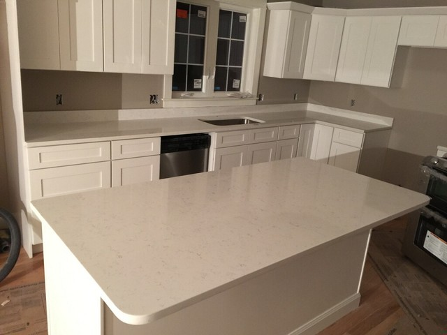 Fairy White Quartz Countertop Contemporary Boston By