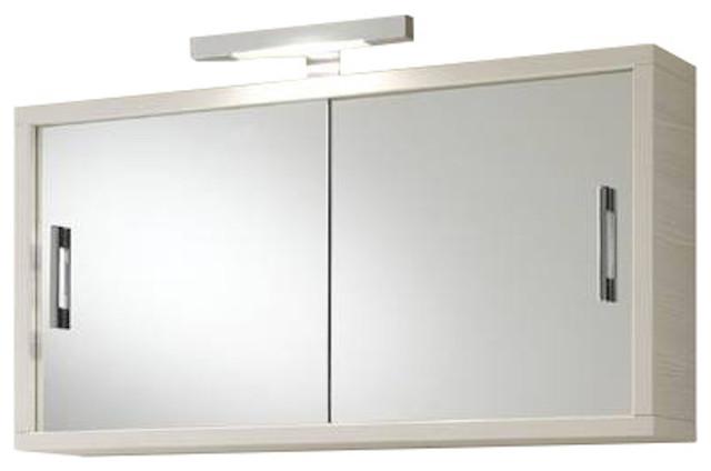 Giava Mirror Door Cabinet, Small