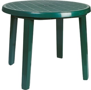 "Ronda Resin Round Dining Table 35.5"", Green"