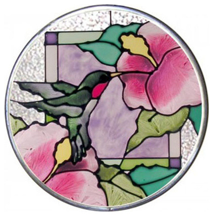 Silver Creek Hibiscus Panel Tropical Stained Glass Panels By