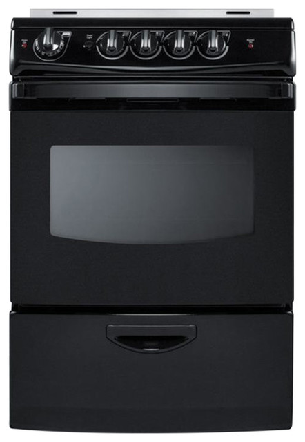24 Quot W Smooth Top Electric Range Rex243brt Contemporary