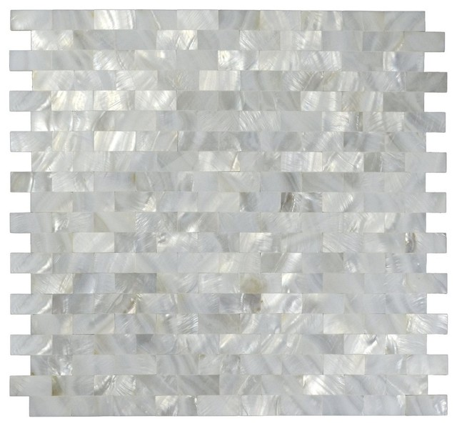 12x12 Mother Of Pearl Mosaic Backsplash Tile Tile Contemporary