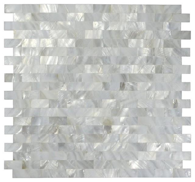 "40 X 40 X 40 Square Coffee Table Ac4 Laminate Floor: 12""x12"" Mother Of Pearl Mosaic Backsplash Tile Tile"