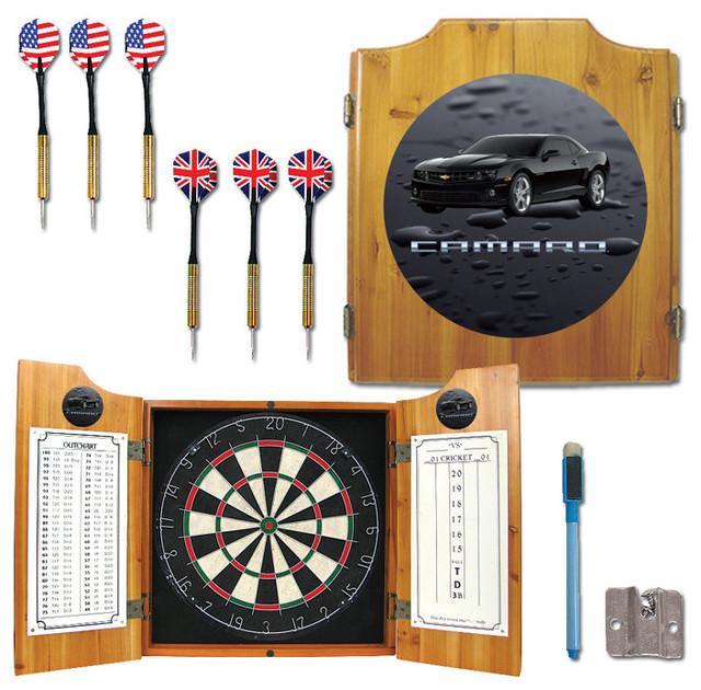 Black Camaro Dart Cabinet Includes Darts and Board - Darts ...