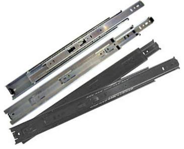Knape & Vogt KV 8400 Series, Black Full Extension Precision Ball Bearing Slides Set - Cabinet ...