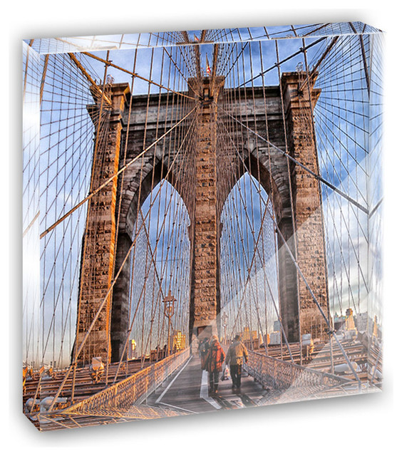 Brooklyn Bridge New York Mini Desk Plaque and Paperweight contemporary-decorative-accents