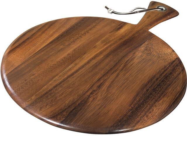 round paddle board traditional cutting boards by ironwood gourmet. Black Bedroom Furniture Sets. Home Design Ideas