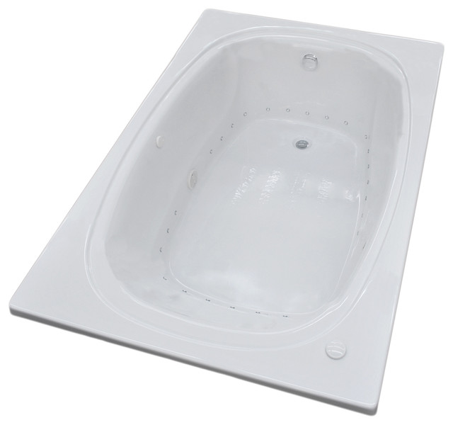 Caravaggio 48 X 72 Rectangular Air Jetted Drop In Bathtub With Left Drain